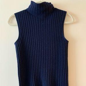 Lafayette 148 Navy Blue Sweater Sleeveless